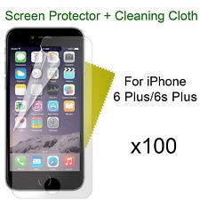 x100 iPhone 6 Plus/6s Plus screen protectors and cloth wholesale job lot