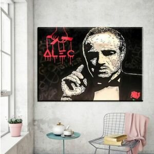 """YA1500 Alec monopoly Goodfather Hand-painted oil painting Canvas Unframed 36"""""""