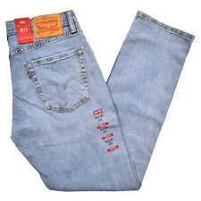 Levis 511 Mens Slim Fit Jeans Skinny Stretch Denim Blue Black Pants Trousers New