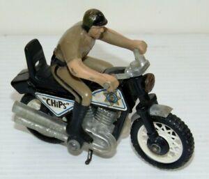 """Vintage """"Chips"""" Highway Patrol Motorcycle Buddy L 1980s Japan"""