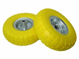 NEW PUNCTURE BURST PROOF SOLID RUBBER SACK TRUCK TROLLEY CART WHEELS SPARE TYRES