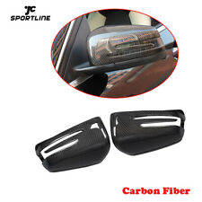 Carbon Fiber  Mirror Cover Cap For Benz W204 W212 W176 W117 W246 Replacement