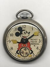 1935 Vintage Ingersoll Mickey Mouse Pocket Watch 30s Working
