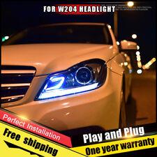 Pour Benz W204 Phares Assemblage Bi-Xenon Lentille Double Faisceau Hid Kit