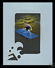 Picture frame mat  - Waves and bubbles with swimmer !  0ne of a kind-my design