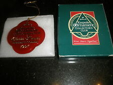 """1991 Vintage Hallmark Collector Club Ornament, """"Five Years Together"""" T1966"""