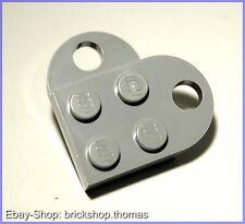 Lego Herz - grau 2-teilig - heart - NEU / NEW