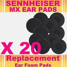 20 oreja de repuesto teléfono Almohadilla De Espuma Esponja Sennheiser Mx