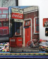 Coca Cola Fountain Lunch Retail shop front Metal Tin Sign decor Soda Coke Advert