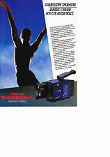 PUBLICITE ADVERTISING   1984   THOMSON   camescope VM30