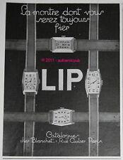 PUBLICITE LIP MONTRE BRACELET 4 MODELES DE 1929 FRENCH AD ADVERT WATCH PUB