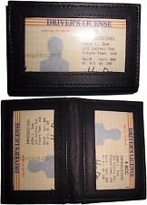 2 New Business Card Id Credit Card Case 3 Id Window Leather Card Case Womenmens