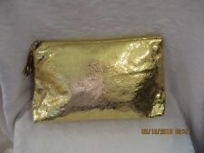 NO BRAND new without tags GOLd make up bag
