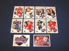 1991-92 UPPER DECK HOCKEY COMPLETE BRETT HULL HEROES SET WITH SP HEADER (18-30)