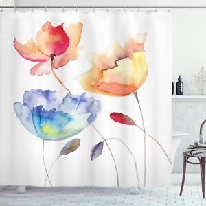Aquarelle Fleur Rideaux de Douche nature Fleurs