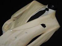 BELVEST Luxury silk & wool men's Double Breasted suit coat pant 40 Short