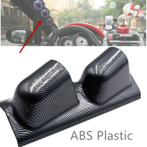 "2"" Dual Gauge Holder Carbon Fiber Look ABS SUV Car Meter Modification Assembly"