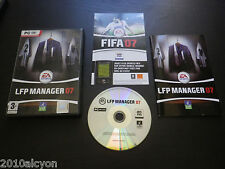 JEU PC DVD-ROM : LFP MANAGER 07 (EA Sports, football COMPLET envoi suivi)
