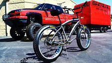 NEW Fat Tire Beach Cruiser Bike- STOMPER - RAW POLISHED rims - 3 SPEED -