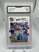 2017 Donruss Mike Trout #104 GMA 10 Los Angeles Angels Hall Of Fame? 🔥🔥