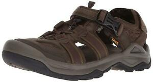 Teva Mens Men's M Omnium 2 Leather Fisherman Sandal, Turkish Coffee, Size 11.0 s