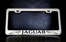 """JAGUAR"" License Plate Frame, Custom Made of Chrome Plated Metal"