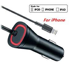 LED Lightning Original OEM Car Rapid Charger 5V/2.1 Amp For iPhone Apple iPad