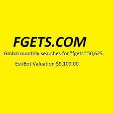 FGETS.COM - Premium Domain Name for Sale - Over 50,000 searches per month