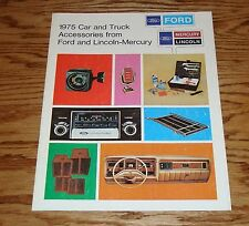 Original 1975 Ford Lincoln Mercury Car & Truck Accessories Sales Brochure 75