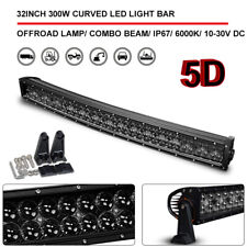 5D 32inch 300W Curved LED Light Bar Spot Flood Combo Off Road SUV Truck Pickup
