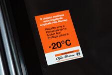 "Adesivo ""Anticongelante -20° C"" - Vetrofania Antigelo per Alfa Romeo 90 Alfa 75"