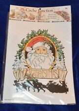 Seitec Cache Junction Holly Santa Iron on Scrapbook or Fabric Embellishments