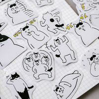 White Cat Paper Sticker Kawaii DIY Diary Scrapbooking Label Stickers PP