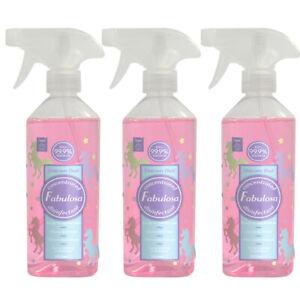 3 x Fabulosa Unicorn Dust Disinfectant Spray 500ml