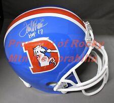 """TERRELL DAVIS Signed/Autographed Denver Broncos Replica Helmet w/ """"HOF '17"""""""