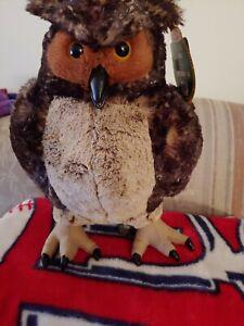 "OWL PLUSH TOY-MELISSA & DOUG 17"" TALL & VERY LIFE LIKE, BEAUTIFUL, SOFT & WISE!"