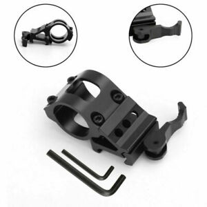 """Release Flashlight Picatinny Mount For Rail Tactical 1"""" Offset with Weaver Quick"""