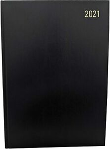 2021 diary A4/A5 Page a Day/Week to View Diary Hardback Casebound Black cover