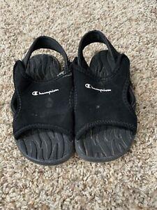 Champion Little Boys Size 7 Black Sunray Sandal Shoes