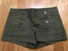 Army Green Material Shorts With Six Buttons Nautical Size 00