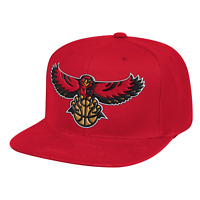 Men's Mitchell & Ness Red NBA Atlanta Hawks Team Ground HWC Snapback