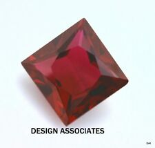12 MM SQUARE CUT MAN MADE RUBY  AAA GRADE