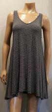 Maurices Striped Swing Dress Womens Size Medium Black White Knit Stretch Mini