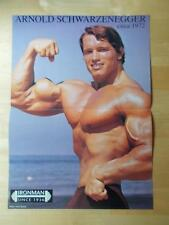 Mr Olympia ARNOLD SCHWARZENEGGER & LAURIE DONNELLY muscle bodybuilding poster