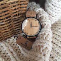 Bobo Bird Bambus Ziffernblatt Mode Holz Uhren Quarz Weihnachten Geschenke für