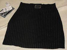 NWT Boss Juniors Size 3 Skirt Pin Stripped Length 17 Stretch Black