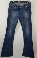 Wrangler Rock 47 womens jeans tag size 11x36 distressed EUC work casual boot cut