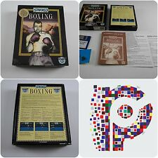 World Boxing A Simulmondo Game and pin basge for the Amiga tested & working