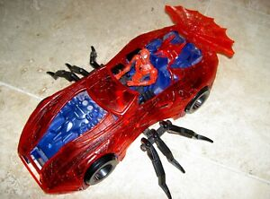 Spider-man Car 16 inches long & Figure approx 6 inches tall Toy Biz Marvel Comic