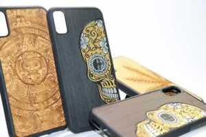 Mexican Wood Mobile Phone iPhone Case X Xs Max 8 Plus Sugar Skull Aztec Calendar